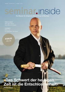 "Cover seminar.inside Nr. 4/15 Titelstory mit Christian Mayer Fokus ""BGM"""