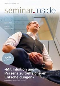 "Cover seminar.inside Nr. 2/16 Titelstory mit Karem Albash Fokus ""Denkfehler"""